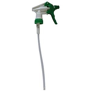 Gâchette hygiène verte pour désinfectant, eau de javel
